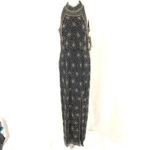Adriana Papell Boutique Evening Maxi Dress Silk Be